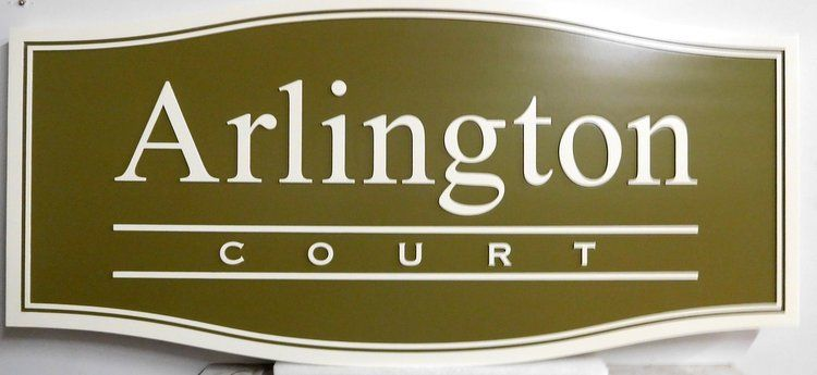 "K20220 - Entrance Sign to Apartment Community, ""Arlington Court"""