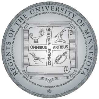 Y34404 - Carved 2.5-D HDU (Raised Outline)  Wall Plaque of the Seal of University of Minnesota