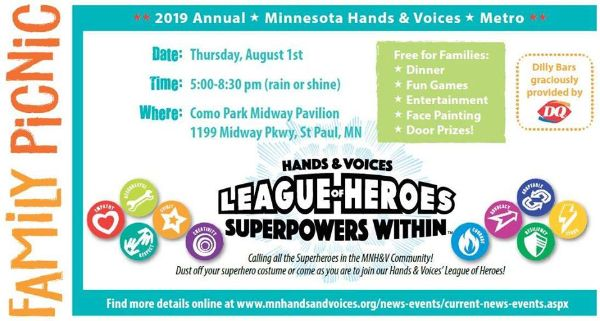 Minnesota Hands & Voices Picnic Invitation Image