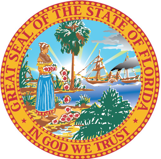 W32110 - Great Seal of Florida Wooden Plaque