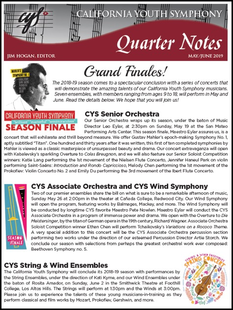 May 2019 Quarter Notes