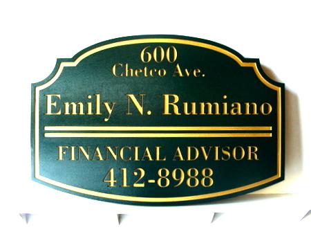 C12008 - Engraved Wooden Financial Advisor Plaque