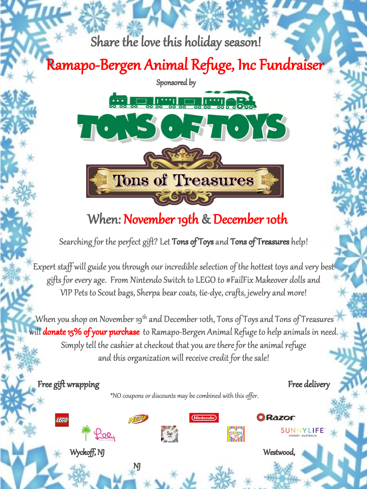 Share the Love @ Tons of Toys & Tons of Treasures!