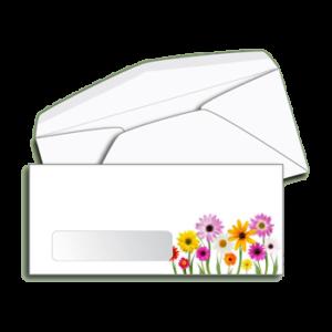 Item G10 - #10 Standard Window Envelope,  Full Color Printing