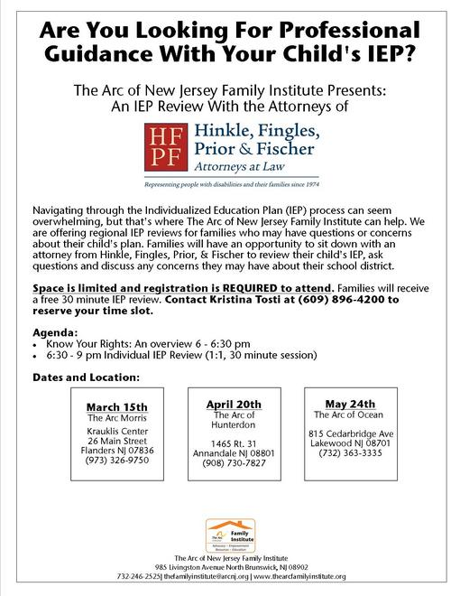 Free IEP Review With the Attorneys of Hinkle, Fingles, Prior, & Fischer, Attorneys at Law