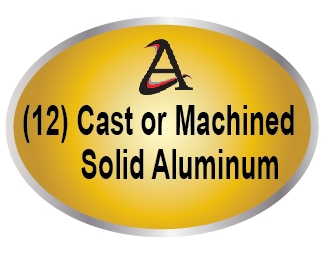 M7540- (12)  Cast (3D)  or Machined (2.5-D) Solid Aluminum