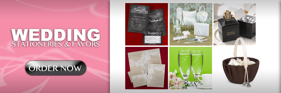 WEDDING STATIONARIES AND FAVORS