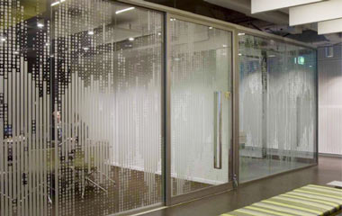 Frosted and etched vinyl window graphics orange county - 3m india corporate office ...