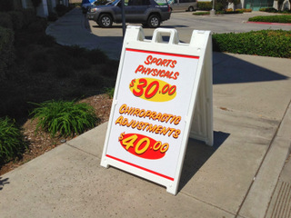 Sidewalk Signs Great for President's Day Sales!