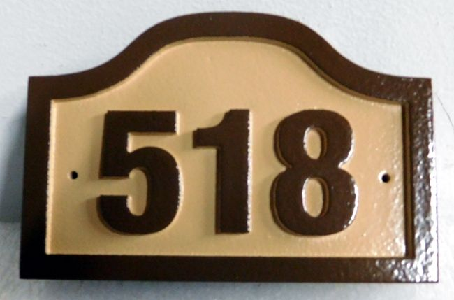 KA20876 - Carved  Apartment or Condo Number Address Sign