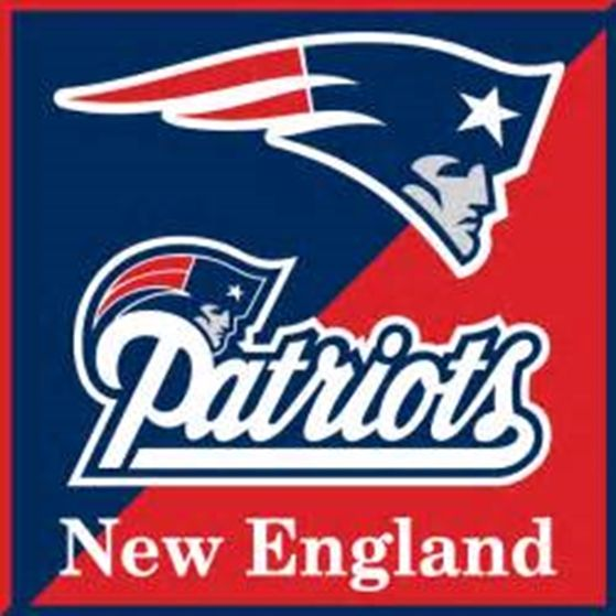 WP-1060 - Carved Wall Plaque  of Logo for New England Patriots NFL,  Artist Painted