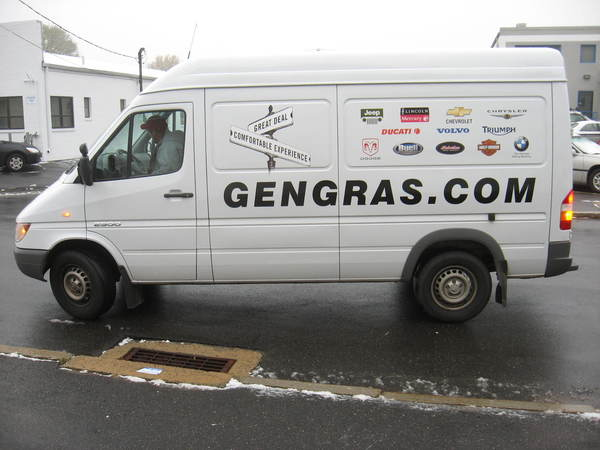 Fleet Graphics, Sprinter Van, Lettering & Graphics with Multiple 4 color Printed Decal Logos