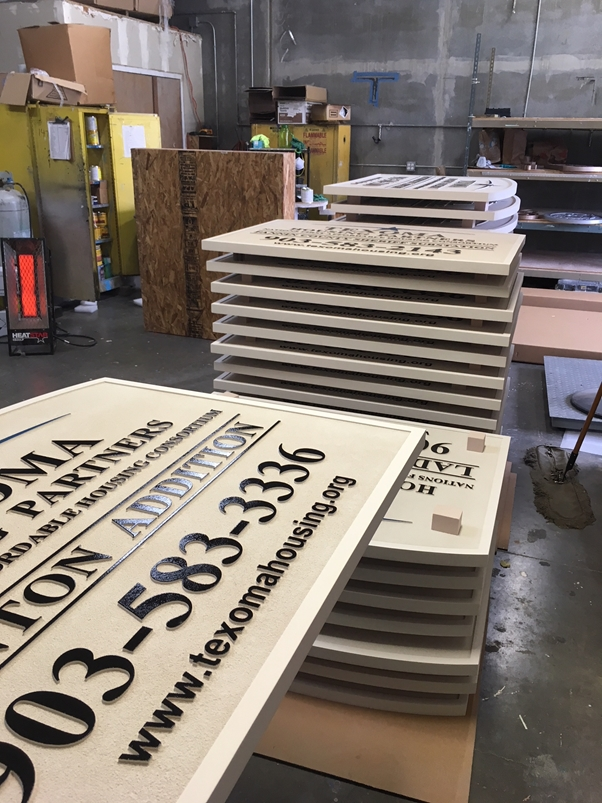 "K20420 - Carved HDU  Signs  for  the ""Texoma"" Housing Partners"