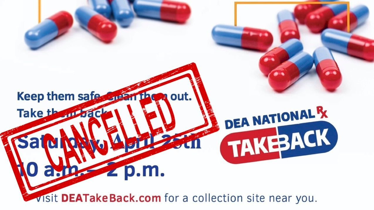 DEA Take Back Day Cancelled