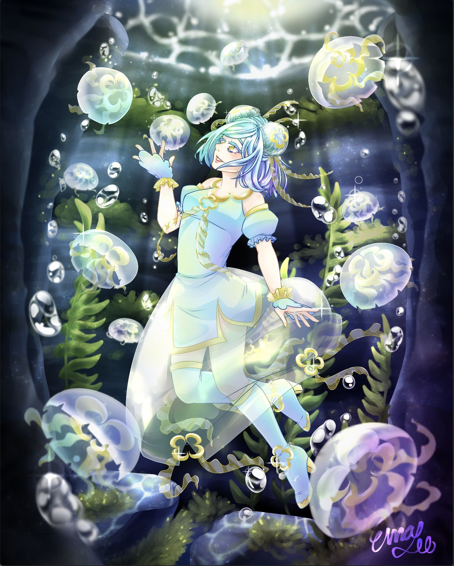 """Moon Jelly's Peaceful Cave"" - Ema Lee Oshima"