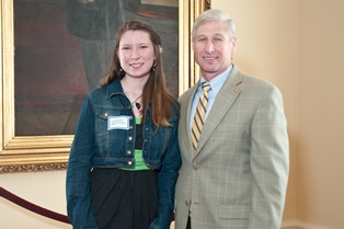 Rep. Alan Baker with Crystal Boutwell