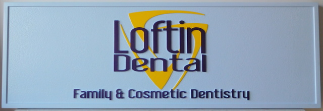 BA11518 Carved 2.5-D Sign for Loftin Family & Cosmetic Dentistry