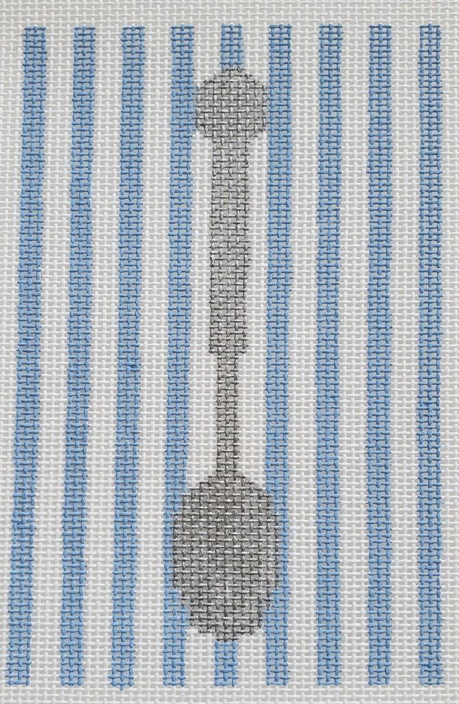 Sterling Silver Spoon, Blue