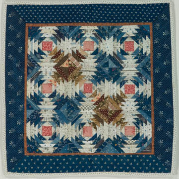 Glucose Process quilt: Log Cabin