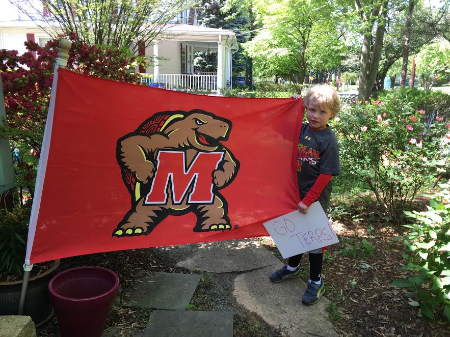 Terps support 6-year-old teammate with cancer