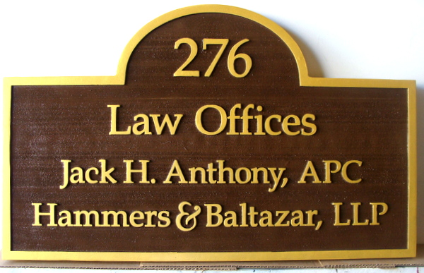 A10022  - Sandblasted Law Office Sign