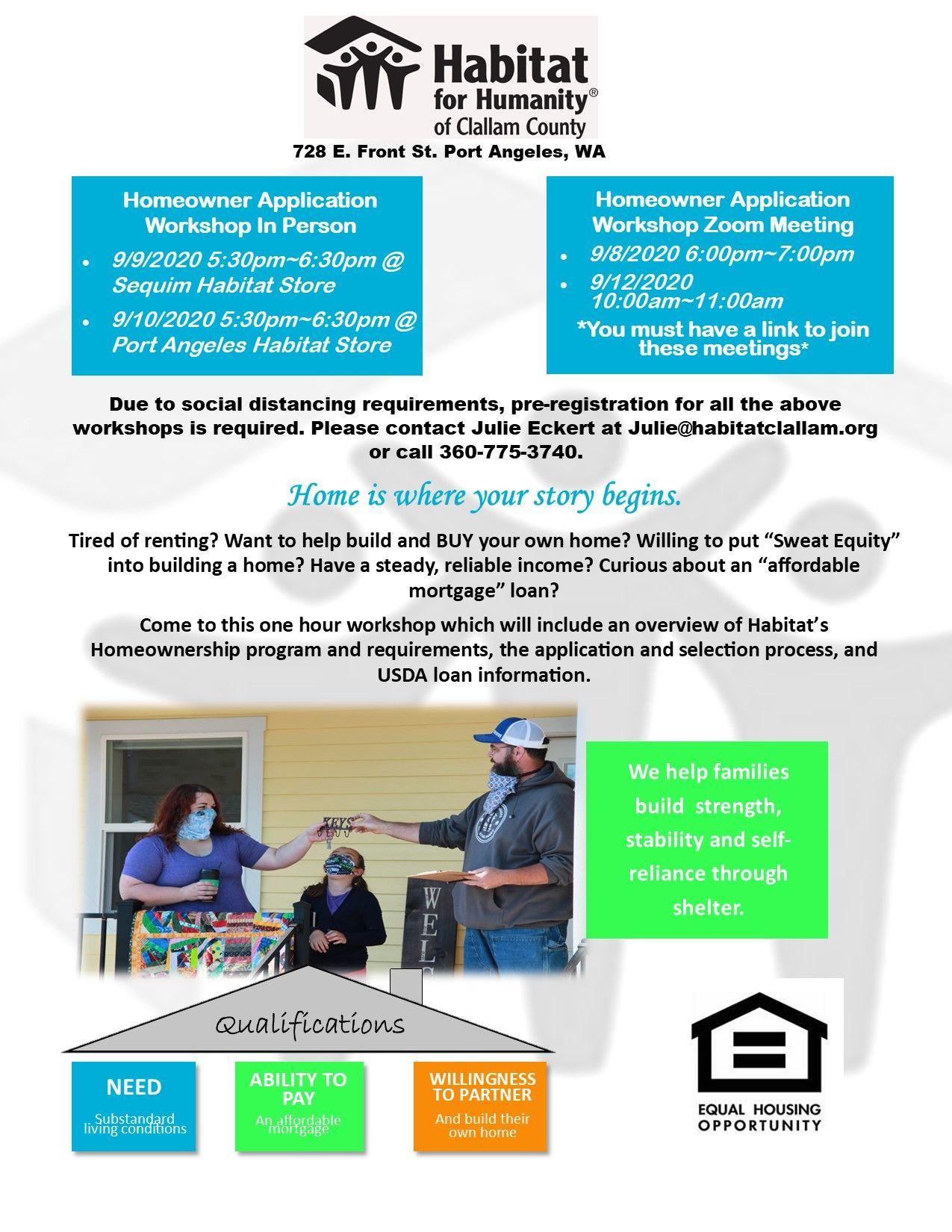 Homeowner Application Workshop