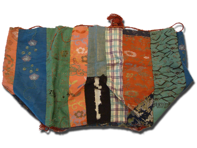 Komebukuro (rice bag), maker unknown, made in Japan, circa 1890, IQSCM 1998.003.0005