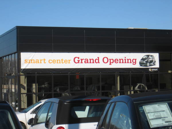 Temporary Custom Grand Opening Banner for Auto Dealership