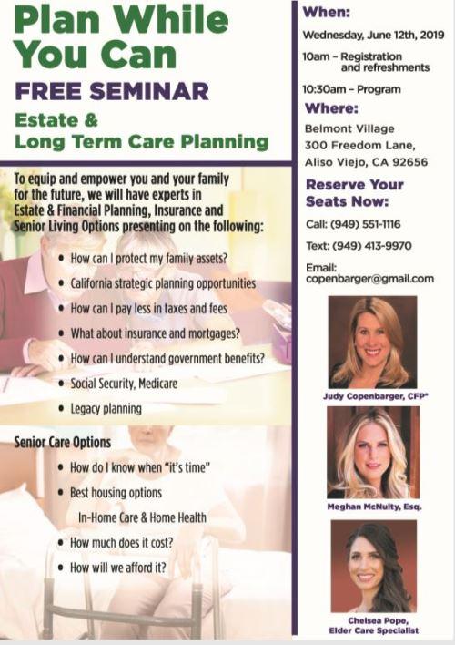 Free Seminar - Estate & Long Term Planning