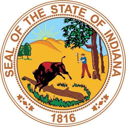W32190 - Seal of the State of  Indiana Wall Plaque