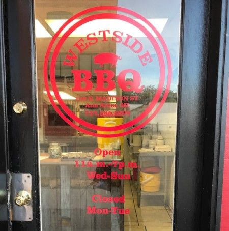 Westside Barbecue Door Vinyl