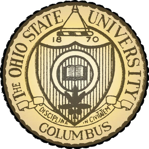 Y34368 - Carved 2.5D Outline Wall Plaque of the Seal of Ohio State University