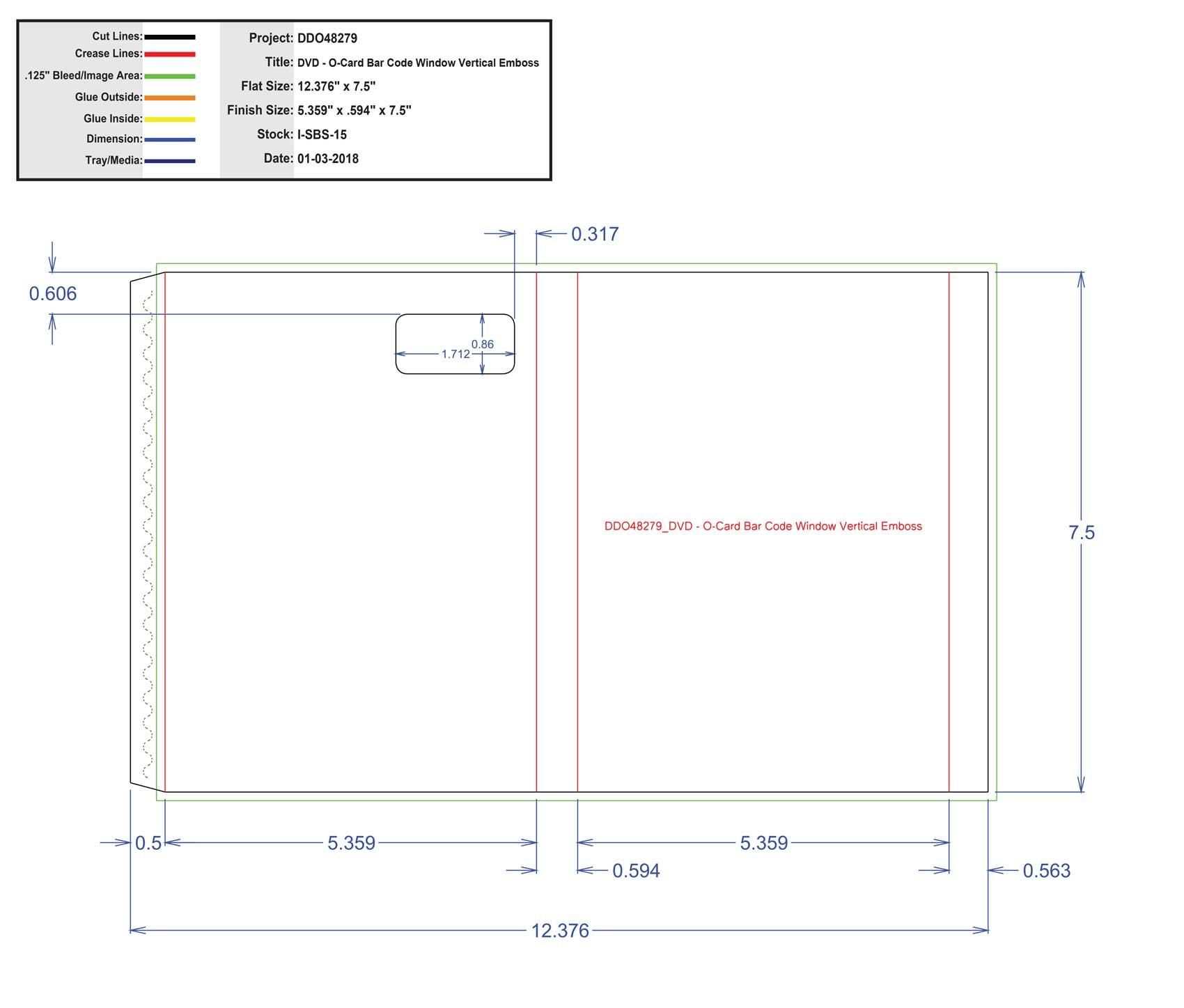 DDO48279_DVD - O-Card Bar Code Window Vertical Emboss