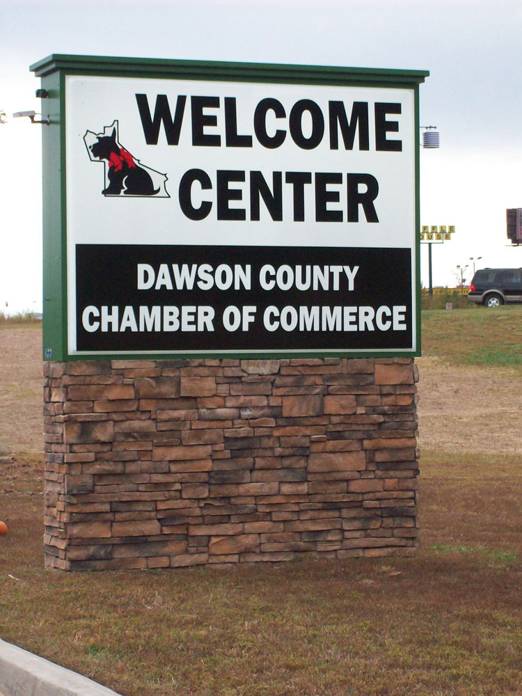 Dawson County Welcome Center Sign