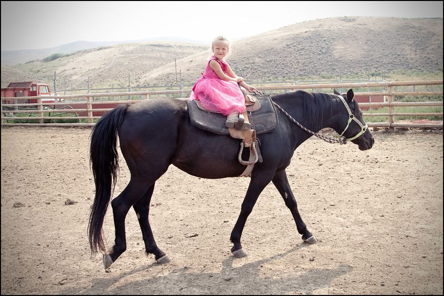 At 3½ Years Old, She Rides For The Brand!