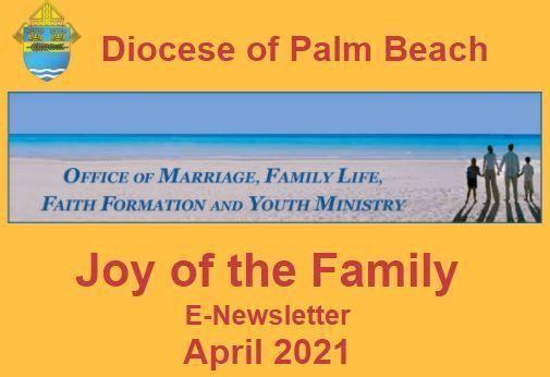 Joy of the Family e-Newsletter - April