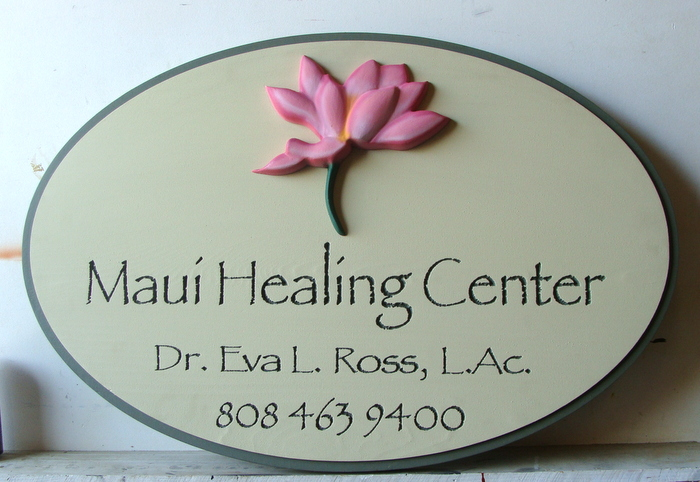 B11234 - Carved HDU 3D Sign for Maui Healing Center