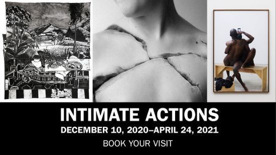 """Intimate Actions"" exhibition opening and performance on December 10."