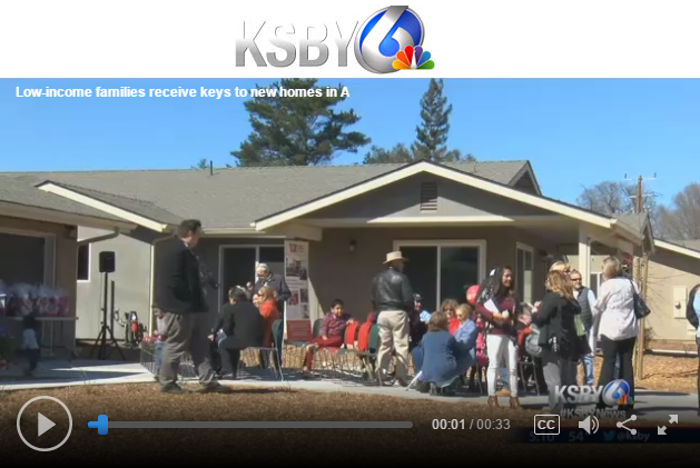 Low-income families receive keys to new homes in Atascadero - KSBY