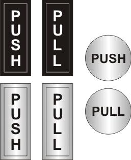 Push Pull Signs