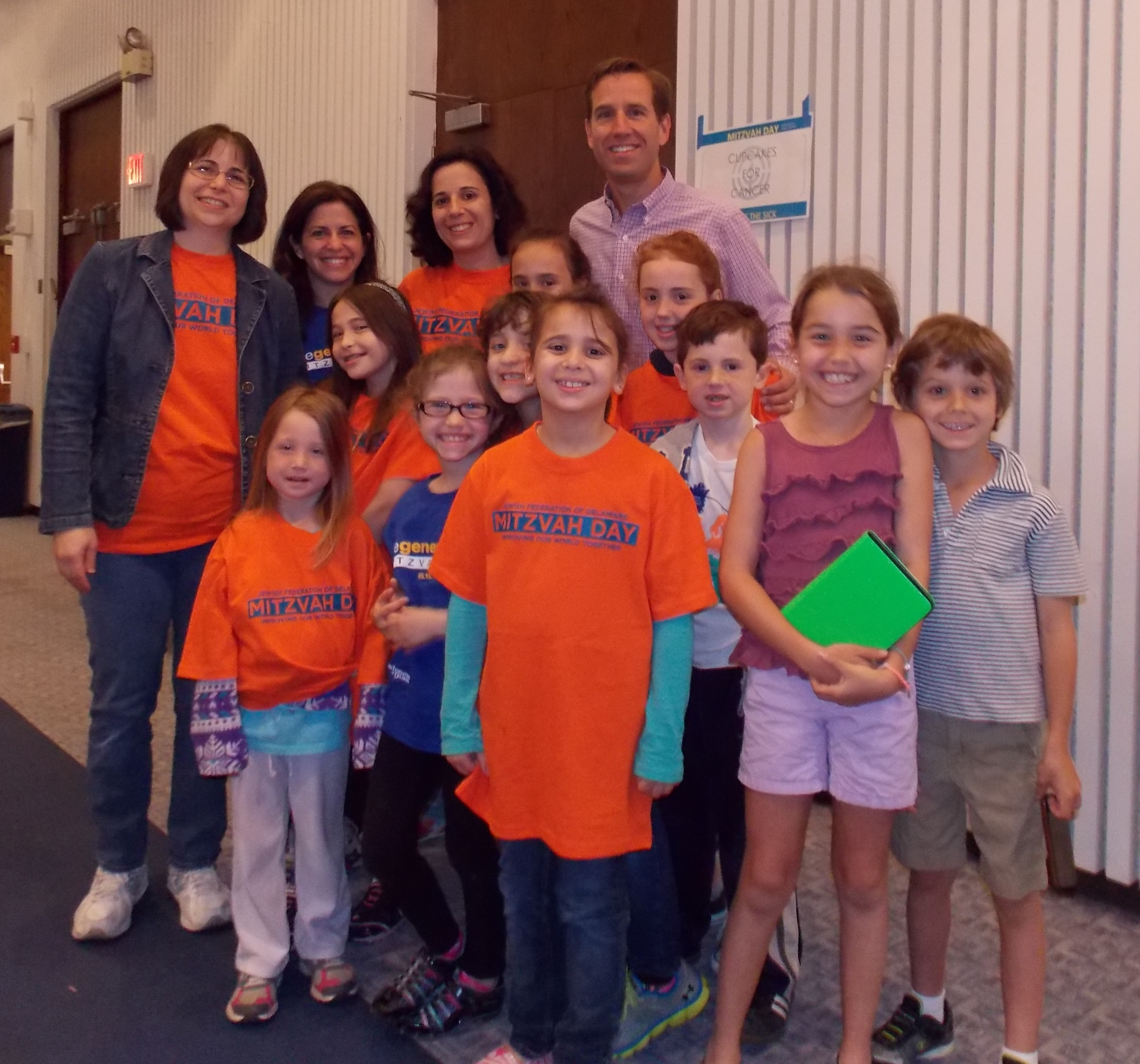 Beau Biden with Group of Kids