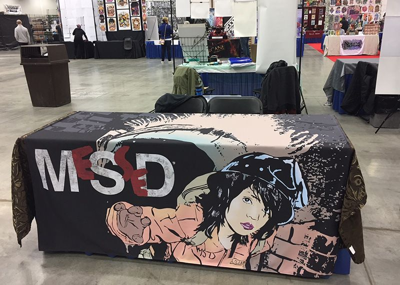 Messed Comics Table Skirt