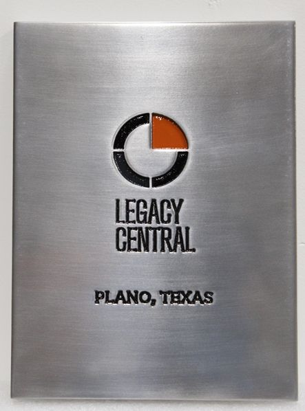 SA28595 - Engraved Aluminum-Plated  Sign  for the Legacy CentralCompany.