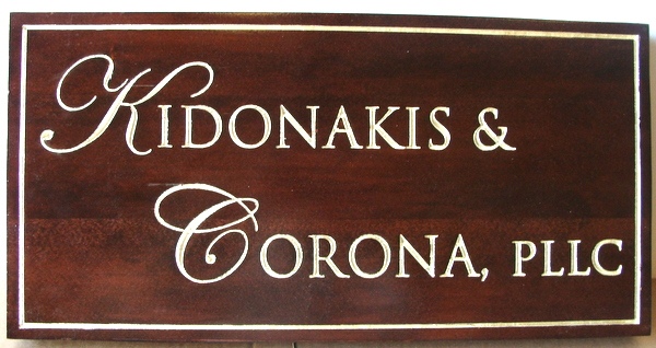 C12221 - Carved Natural Wood Office Wall Sign