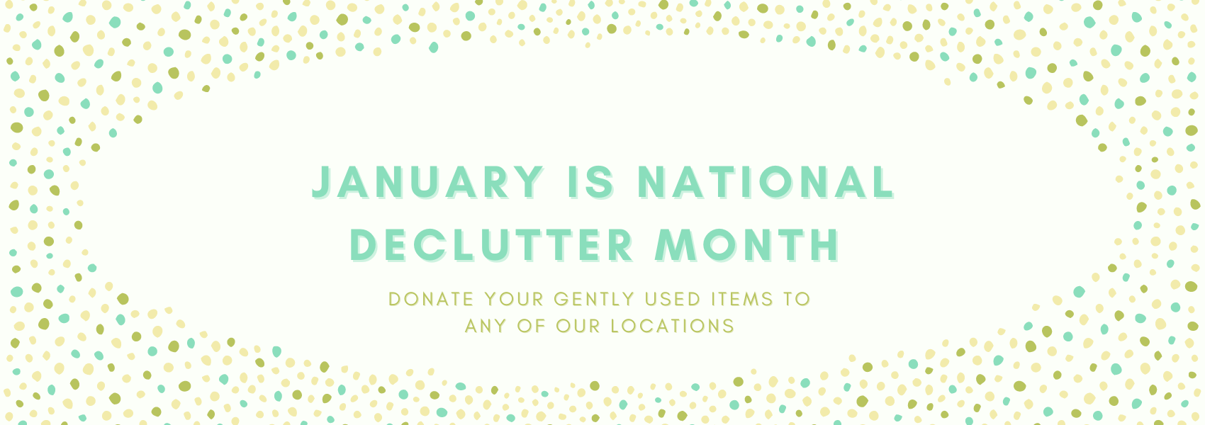January is National Declutter Month