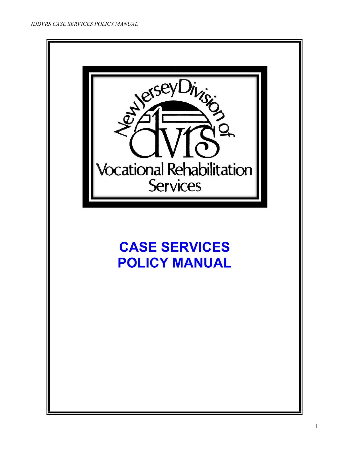 DVRS Case Services Policy Manual