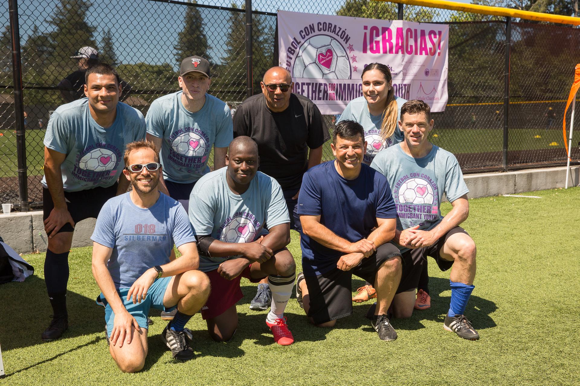 San Mateo County Sherriff Department team at Futbol con Corazon