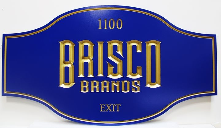 """M1770 - Sign for  """"Brisco Brands""""Company (Gallery 28)"""