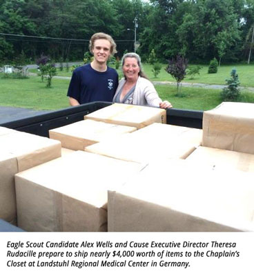 Virginia Scout's Eagle Service Project Benefits Service Members in Overseas Military Hospital