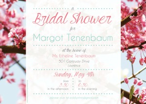 Bridal Shower- Pink Flowers